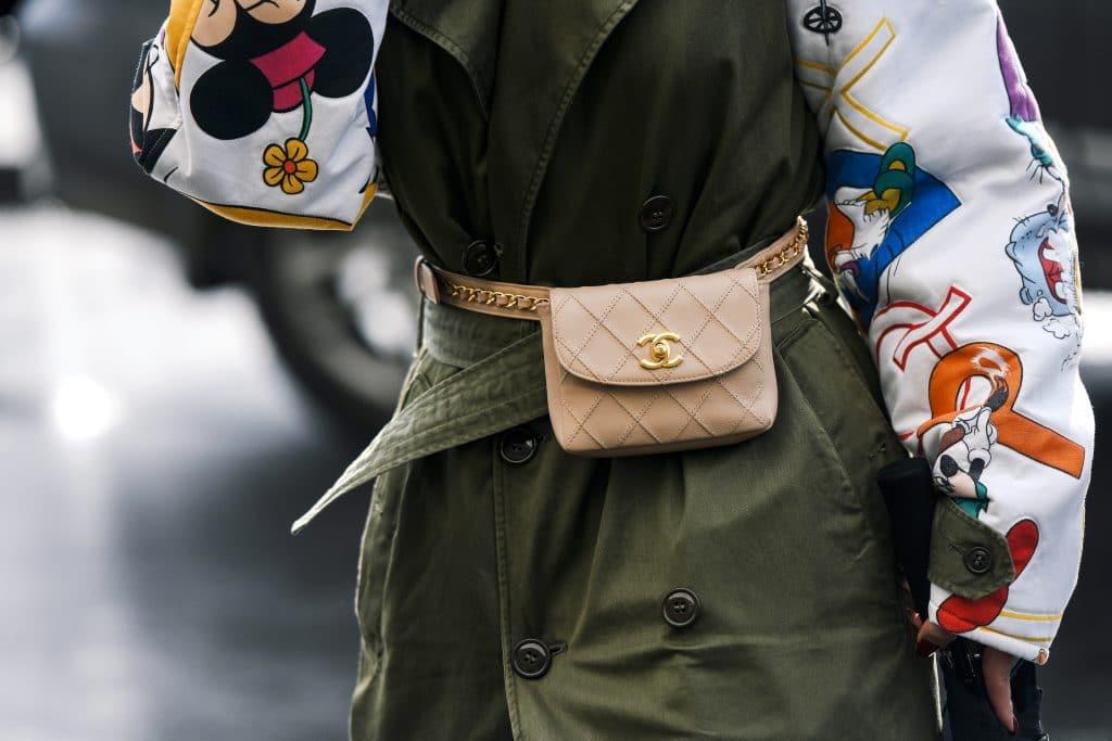 chanel wallet, chanel belt bag